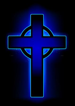 cross shape: cross shape. Minimal style.  Illustration