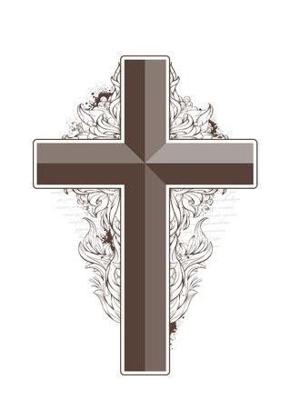 cross shape: cross shape. Grunge style with bizarre pattern.