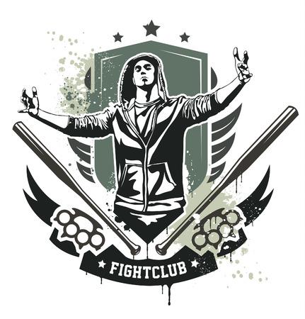 gangsta: Grunge gang design.