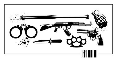 Insieme di elementi di militare.