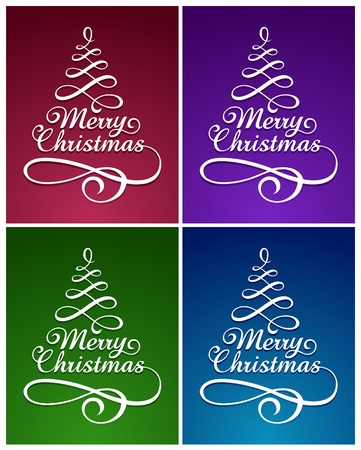 Calligraphic Christmas lettering Stock Vector - 11262734