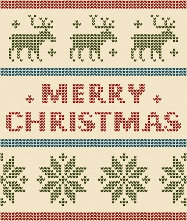 Nordic Background With Merry Christmas Text Vector