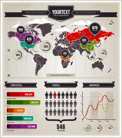 Vector set of infographics elements. Stock Vector - 11662118