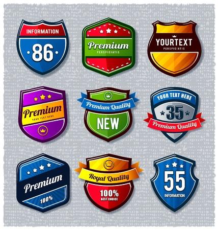 Vector set of retro badges.  Stock Vector - 12234206