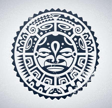 maories: Polinesia estilo del tatuaje Vectores
