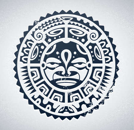 hawaiian culture: Polynesian tattoo styled Illustration