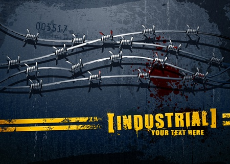 Industrial background with grunge elements and place for your text Vector