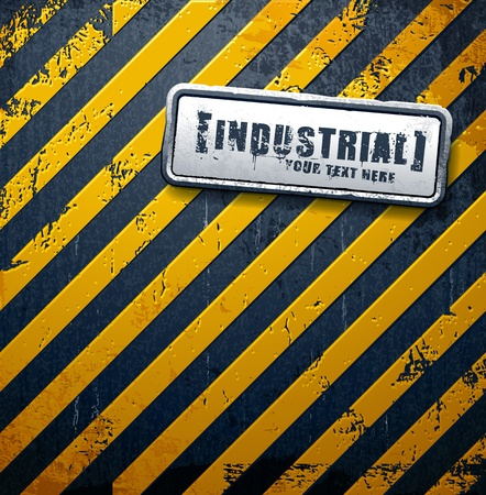 factory floor: Industrial background with grunge elements and place for your text