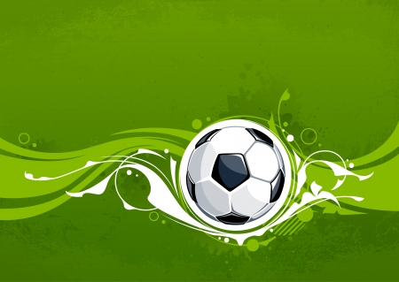 Grunge voetbal achtergrond met bloemmotief