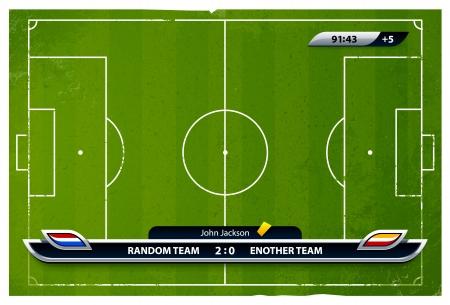 campeonato de futbol: Grunge del f�tbol igualdad de condiciones con los elementos estad�sticos