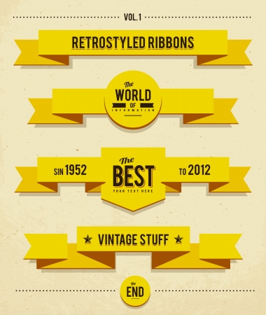 banner design: Retro syled ribbons