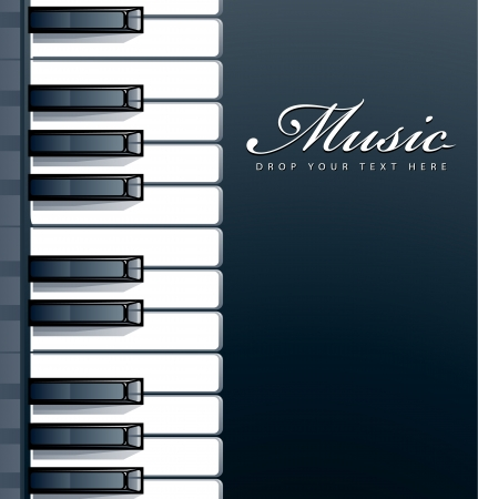 Piano keys background Stock Vector - 14653575