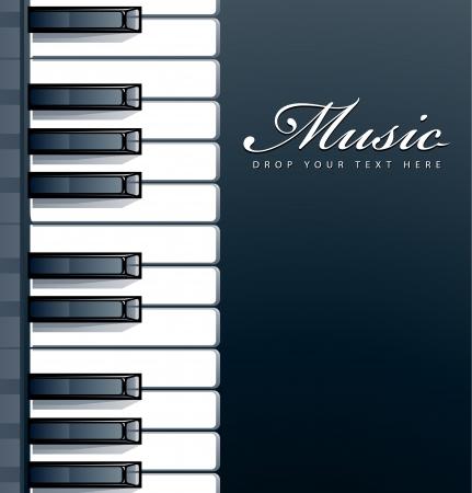 Teclas de piano de fondo Ilustración de vector