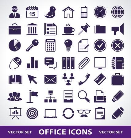 Vector set van eenvoudige leven op kantoor pictogrammen.