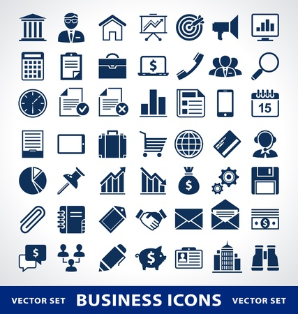 Vector set of simple business icons. Vector