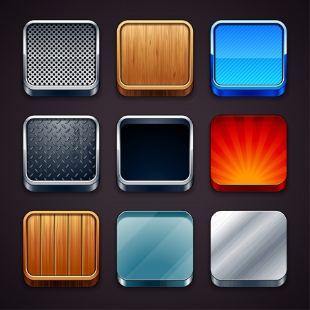 High detailed apps icons set. Vector illustration. Stock Vector - 18242313