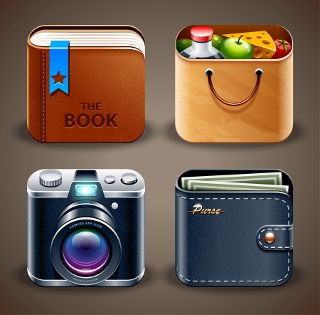 apps: High detailed apps icons set. Vector illustration. Illustration