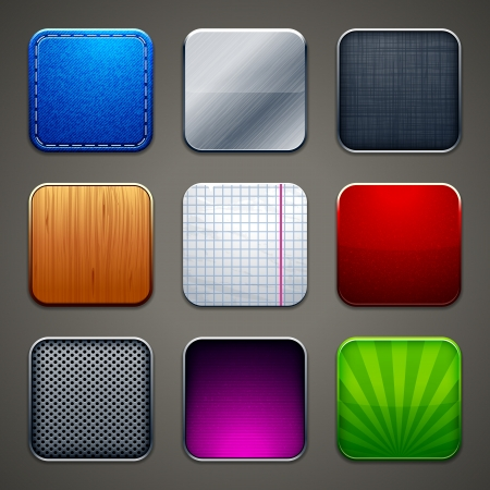 High detailed backgrounds for apps icons   向量圖像