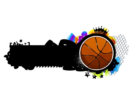 Graffiti image with basketball. Vector illustration. Stock Vector - 18289351