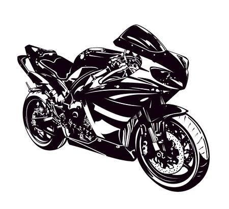 Sport motor geïsoleerd op wit Vector illustratie