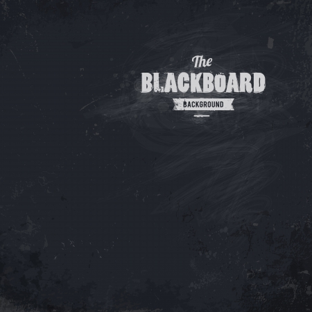 Blackboard background  Dirty textured illustration