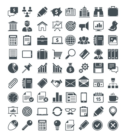 business software: Set of usefull icons, pictograms and signs.