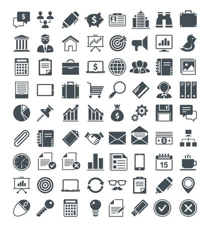 Set van handige iconen, pictogrammen en borden. Stock Illustratie