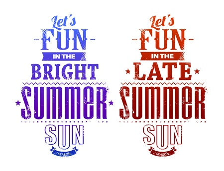 Summer typography illustration. Stock Vector - 20240173