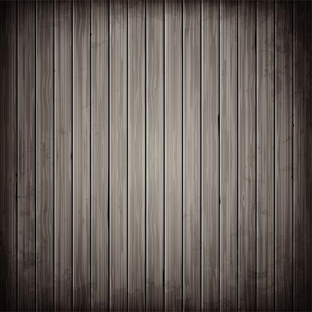 木の灰色板背景。リアルな木の質感のイラスト。  イラスト・ベクター素材