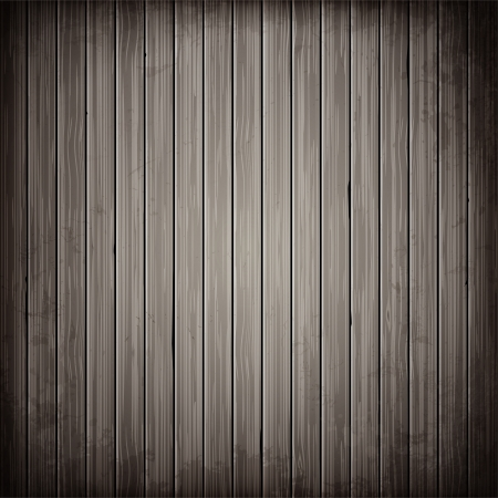 Wooden grey plank background. Realistic wood texture illustration. Vectores