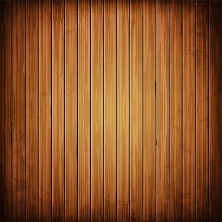 木の板の背景。リアルな木の質感のイラスト。