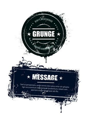 Grunge dirty banners illustration. Vector