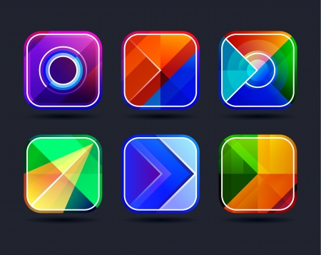 Abstract app icons background frames set  Geometric abstract colorful frames  Vector illustration Stock Vector - 21581956