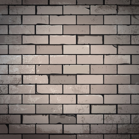 unsaturated: Unsaturated brick wall dirty background  Vector illustration