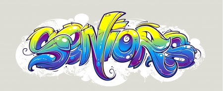 Graffiti lettering wild style  Vector illustration  Illustration