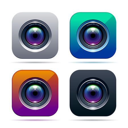 Photo app icon. Color variations. Vector illustration. Vector