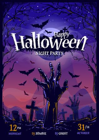 De Halloween plantilla de diseño del cartel vertical. Foto de archivo - 32379916