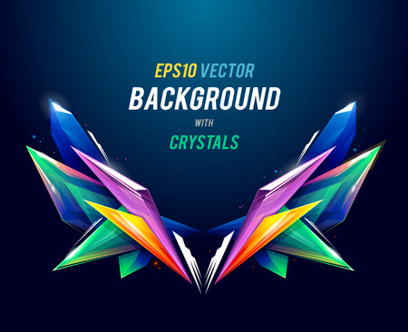 graphic backgrounds: Abstract background with crystal geometric shapes. Vector illustration.
