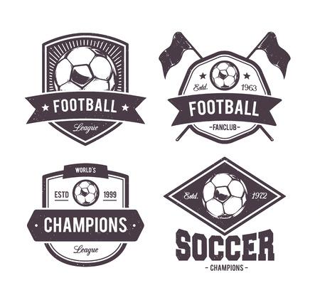 Vector set of retro football emblems. Illustration