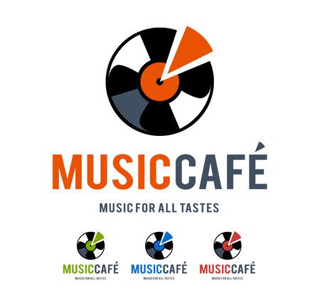 logo music: Musical logo design template. Vector art.