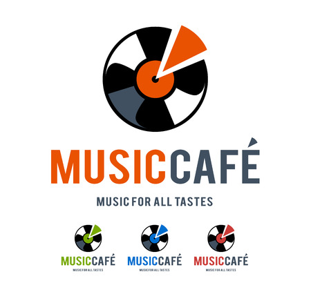 Musical logo design template. Vector art.