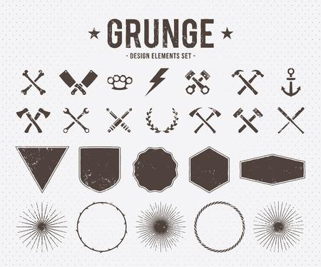 martillo: Conjunto de elementos de dise�o vectorial grunge