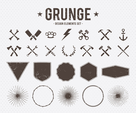 Set of vector grunge design elements