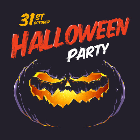 Halloween party flyer template.