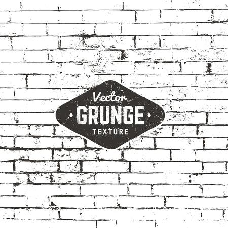 Grunge background texture. Brick wall distressed texture. Illustration