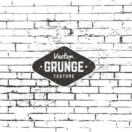 Grunge background texture. Brick wall distressed texture. Illustration