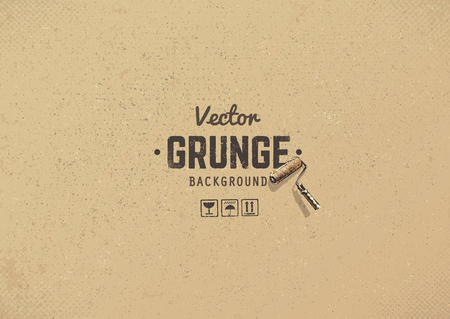 Carton textured grunge background. Grain noise texture. Stock Vector - 60619264