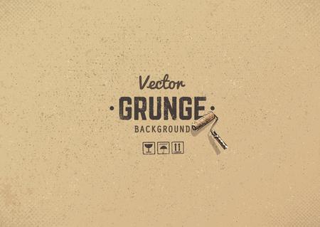 Carton textured grunge background. Grain noise texture.