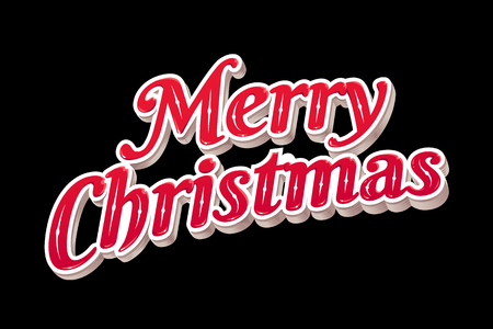 Merry Christmas Typography vector illustration