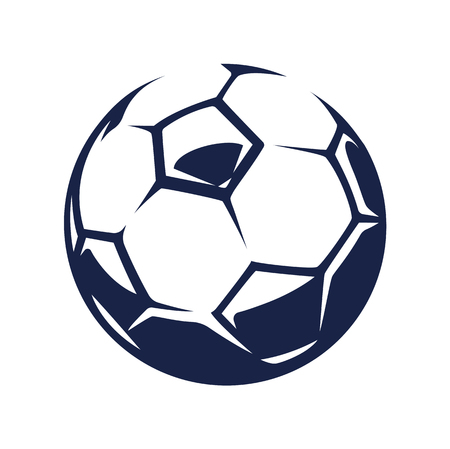 Vector soccer ball, isolated on white background. Ilustração